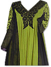 Black/Green Chiffon Suit