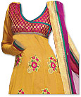 Yellow/Magenta Georgette Suit- Indian Semi Party Dress