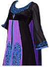 Black/Purple Georgette Suit