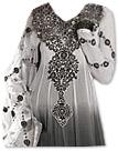Off-White/Dark Grey Georgette Suit