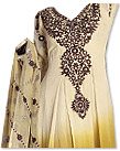 Cream/Brown Georgette Suit- Indian Semi Party Dress