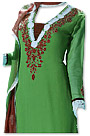 Green Georgette Suit - Pakistani Casual Dress