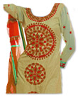 Light Golden/Red Georgette Suit - Pakistani Casual Clothes