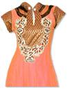 Peach Chiffon Suit - Indian Dress