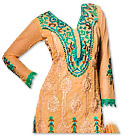 Peach/Green Georgette Suit - Indian Semi Party Dress