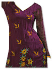 Dark Magenta Georgette Suit - Pakistani Casual Dress