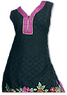 Black/Magenta Georgette Suit - Pakistani Casual Clothes