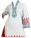 White/Red Georgette Suit- Pakistani Casual Dress