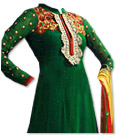 Dark Green Georgette Suit