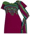 Magenta/Green Georgette Suit - Indian Dress