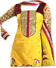 Yellow/Magenta Georgette Suit- Indian Dress