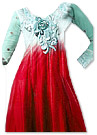 White/Red Chiffon Suit- Indian Dress