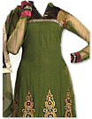 Mehndi Green Georgette Suit