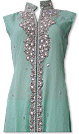 Sea Green Crinkle Chiffon Suit - Pakistani party wear