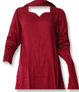 Maroon Marina Suit- Pakistani Casual Clothes