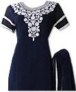 Blue/White Georgette Suit