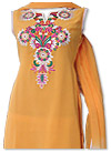 Mustard/White Georgette Suit- Pakistani Casual Dress