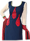Maroon/Navy Blue Georgette - Pakistani Casual Dress