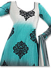 Light Turquoise/Grey Chiffon Suit- Indian Dress