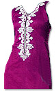 Dark Purple/White Georgette - Pakistani Casual Dress