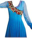 Blue Georgette Suit