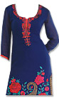 Blue Georgette Suit - Indian Semi Party Dress