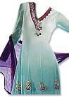Sky Blue Chiffon Suit  - Indian Dress