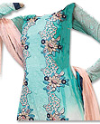 Turquoise/Peach Chiffon Suit