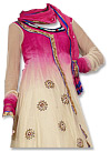 Pink/Cream Chiffon Suit - Indian Semi Party Dress