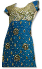 Blue/Green Jamawar Suit- Indian Party dress