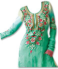 Green/Cream Jamawar Suit