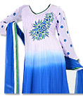 Royal Blue/White Chiffon Suit