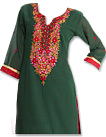 Teal/Red Georgette Suit  - Pakistani shalwar dress