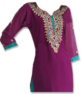 Purple/Turquoise Georgette Suit - Indian Semi Party Dress