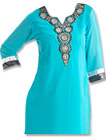 Turquoise/Grey Georgette Suit- Indian Semi Party Dress