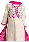 Pink/Off-white Georgette Suit - Pakistani shalwar dress