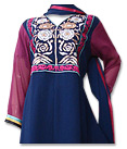 Navy Blue/Magenta Chiffon Suit- Indian Dress