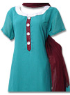 Sea Green Georgette Suit  - Pakistani shalwar dress