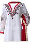 White Chiffon Suit - Indian Semi Party Dress