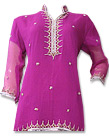 Shocking Pink Crinkle Chiffon Suit- Pakistani party wear