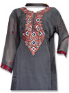 Grey/Brown Georgette Suit - Pakistani Casual Dress