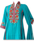 Turquoise Linen Suit- Pakistani Casual Clothes