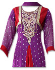 Dark Purple Chiffon Suit - Indian Semi Party Dress