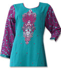 Green/Magenta Georgette Suit