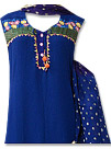 Blue/Purple Georgette Suit  - Indian Semi Party Dress