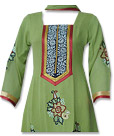 Parrot Green Chiffon Suit - Pakistani Casual Dress