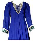 Royal Blue Georgette Suit- Indian Semi Party Dress
