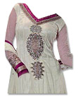 White/Purple Chiffon Suit- Indian Semi Party Dress