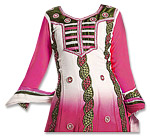 Pink/White Georgette Suit- Indian Dress