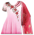 Pink/Red Chiffon Suit